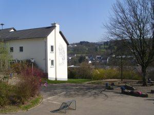 Düringerschule mit Sgraffito Johann Nikolaus Düringer - Foto: Gerhard Burghaus