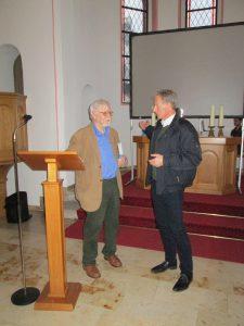 Dr. Thieme u. Axel Stracke in der Ev. Kirche Heimatnachmittag 09.11.2019 Foto Gerhard Burghaus
